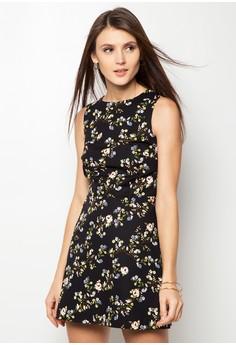 Ladies' Emile Print Zip & Clasp Back Dress