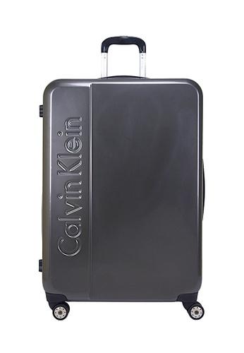 Calvin Klein silver Calvin Klein Manhattan 2.0 24 Inch Spinner  Hard Case Luggage C6781AC143A27FGS_1