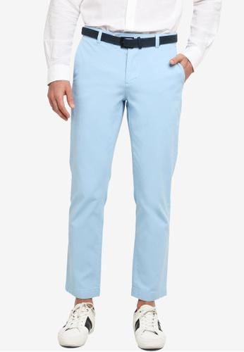 Brooks Brothers blue Supima Garment Dyed Pants 5A6C8AA3109153GS_1