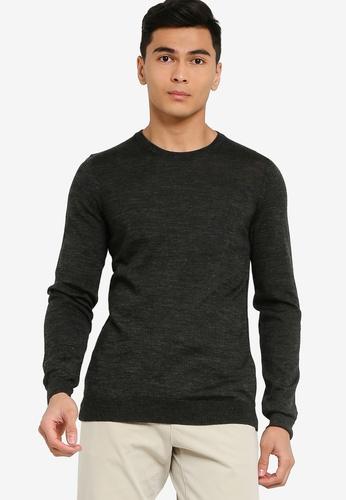 BOSS black Leno-P Crew Neck Sweater 8DB78AA20507D5GS_1