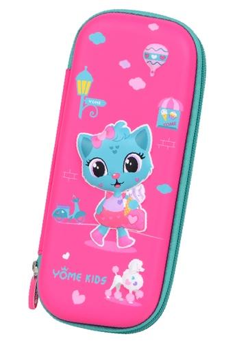 Yome pink YOME Pencil Case Magic Cat DAF20KC72106C7GS_1