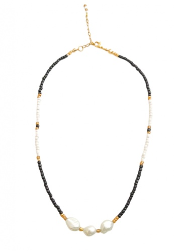 Trinkets for Keeps multi Freshwater Pearl Beaded Choker Necklace 3CE39ACBBAAD58GS_1