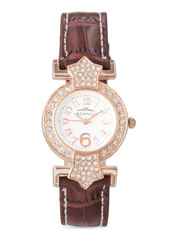 水晶仿皮圓zalora 台灣錶, 錶類, 飾品配件