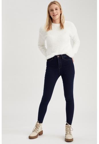 DeFacto blue High Waist Super Skinny Jeans 38023AA9A2895DGS_1