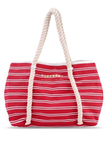 1180e2d97ef8 Shop Superdry Bayshore Stripe Beach Tote Bag Online on ZALORA Philippines