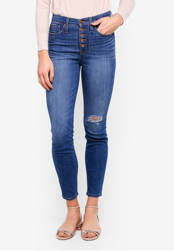 J.Crew blue 10 Inch High Rise Toothpick Jeans F56C6AAC3CEA79GS_1