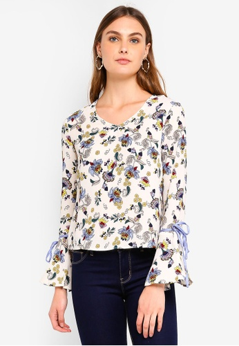 Glamorous white and multi Floral Print Top DDF8CAA5E4FC80GS_1