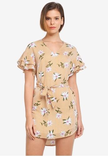 ZALORA yellow Ruffle Tunic Dress 7CD63AAAD831E0GS_1