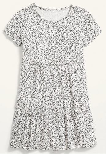 Old Navy blue Girls Tiered Printed Short-Sleeve Dress D1258KA166079AGS_1