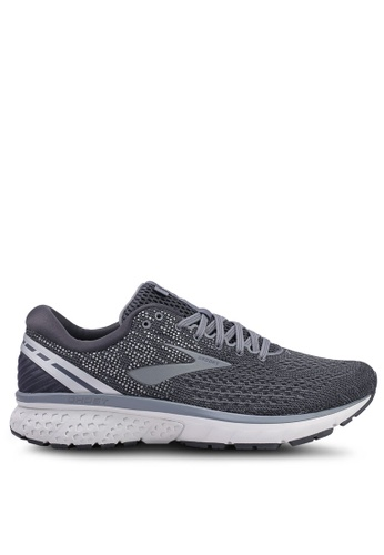 Brooks grey Men's Ghost 11 Shoes 74140SH6F8D2A4GS_1