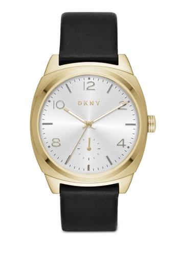 DKNY black DKNY Broome Black Leather Watch NY2537 DK097AC94LWFMY_1