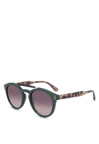 ALDO green Zeillan Sunglasses/Round 67206GLDFBBD1CGS_1