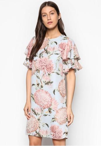 花卉印花直esprit分店筒洋裝, 服飾, 服飾