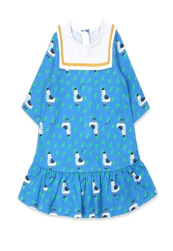 Organic mom blue Organic Cotton Patty Pigeon Dress FEE15KA0B8037CGS_1