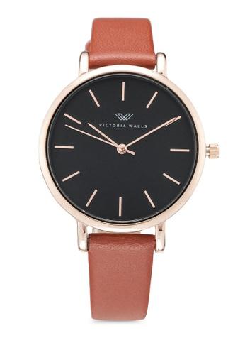 Victoria Walls Watches brown Designer Watch-Elegant Leather Strap ED590ACD6278B3GS_1
