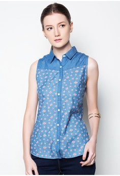 Sleeveless With Floral Print