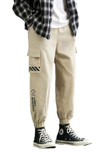 Trendyshop brown Skinny Jogger Pants 2AC8FAA6FD2209GS_1