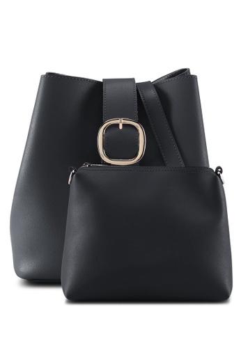 Perllini&Mel black Faux Leather Sling Bag E7678AC53C5EC7GS_1