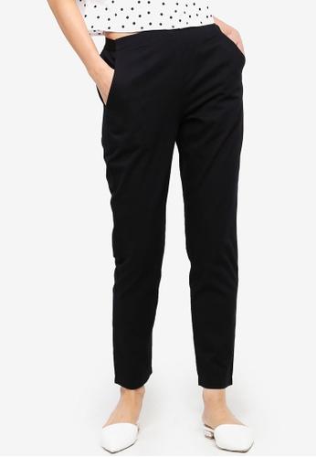 ZALORA BASICS black Basic Cigarette Pants A9D46AA9A6F4ECGS_1