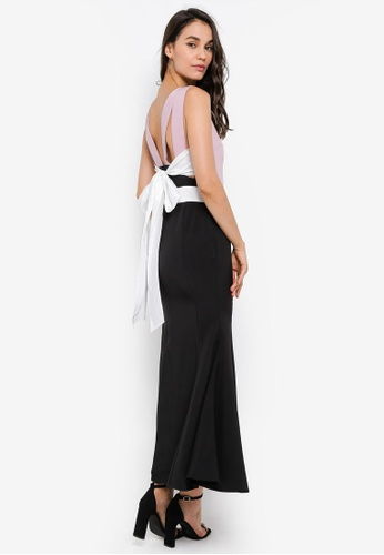 Megane black Red Romance Bianca Long Mermaid Dress 05C9FAA155B35EGS_1