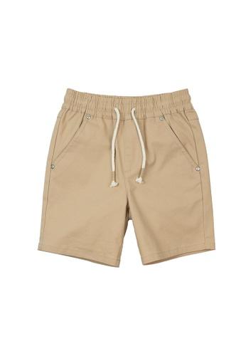 Vauva yellow Vauva Boys Nut Khaki Shorts CCCFEKA48F86A5GS_1