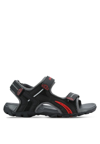 Power black Athletic Sandals PO160SH0RE0JMY_1