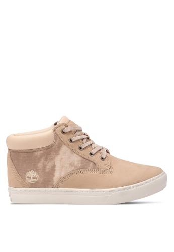 Timberland beige Dauset Fabric and Leather Chukkas TI063SH0SB8ZMY_1