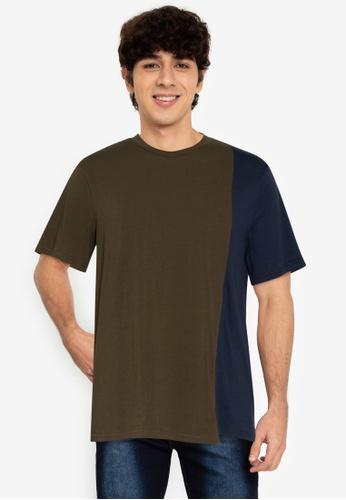 ZALORA BASICS multi Quarter Contrast T-Shirt D1048AA04D7579GS_1