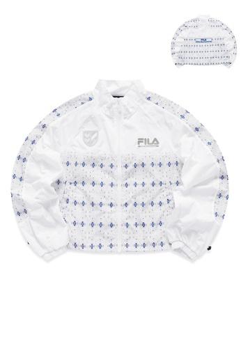 FILA white FILA x White Mountaineering Logo Ethnic Print Jacket 3216DAA56D5EB5GS_1