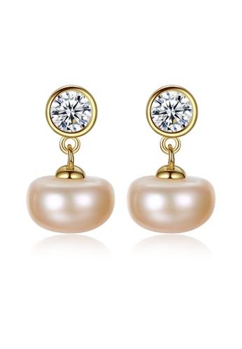 SUNRAIS gold Premium color stone gold hypoallergenic earrings 75917AC254AE4CGS_1