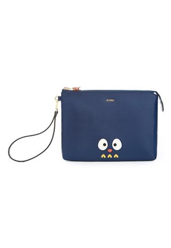 BONIA navy Yoyo the Owl Mini iPad Case BO710AC93IMOID_1