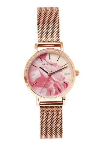 Milliot & Co. orange Rosie Rose Gold Mesh Strap Watch C6F9EAC0936EC6GS_1