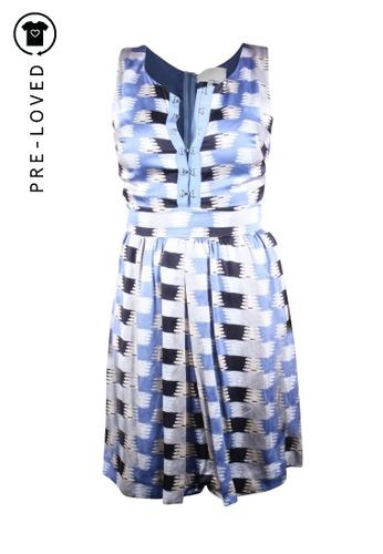 3.1 Phillip Lim blue Pre-Loved 3.1 phillip lim Blue Print Silk Short Jumpsuit 21096AA2F2A0F3GS_1