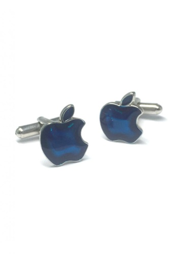 Splice Cufflinks blue Blue Apple Cufflinks   SP744AC58DTLSG_1