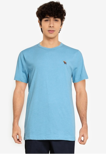 Abercrombie & Fitch blue Icon Crew T-Shirt 2F189AA4809EA8GS_1