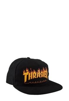 1a9760f5566 Thrasher black Thrasher Flame Logo Snapback Black 7C562ACA6CCA94GS 1