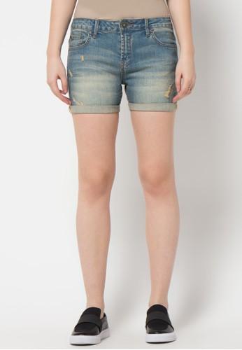 DocDenim blue Ladies Short Cappri Ru Slim Fit DO336AA93LREID_1