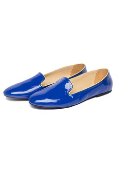 Paige Patent Loafer Blue
