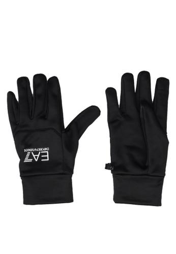 EA7 black Train Softshell Gloves 69756ACF1C84D9GS_1