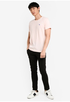 7591b02381a761 Abercrombie & Fitch Pop Icon Crew Neck T-Shirt S$ 34.00. Sizes XS S M L XL