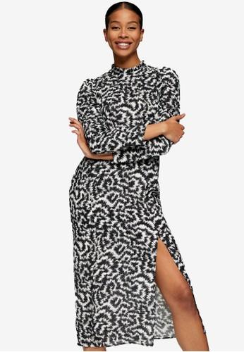 TOPSHOP multi Animal High Neck Dress 3E0B5AA6481469GS_1