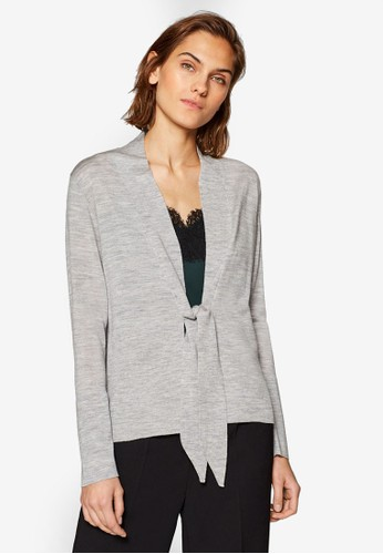 ESPRIT grey Cardigan with Drawstring Ties E8DD6AAC70D699GS_1