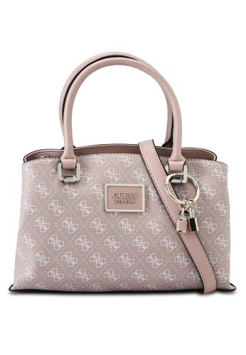 Guess pink Tyren Girlfriend Satchel Bag 95496AC15BC9E4GS_1