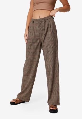 Cotton On brown Jordan Oversized Pleat Pants F8F7AAA503D5A2GS_1