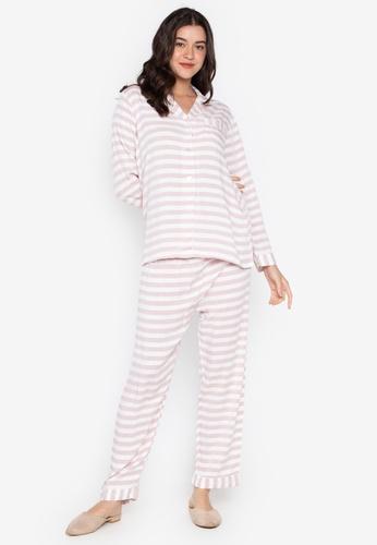 FEMINISM white and pink Longsleeve PJ Set 81EEAAA0AA323AGS_1