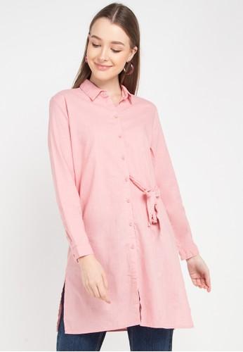 Logo Jeans pink Monty Shirt EC995AAF1D9908GS_1