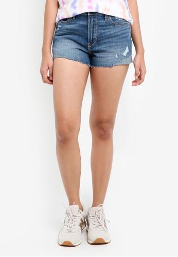 Hollister blue LT Shred Shorts 0D18AAA6798A1FGS_1