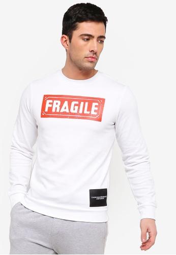 7dce2ef85ff6ac Calvin Klein white Fragile Pullover - Calvin Klein Performance  82D13AAF1C53BEGS_1