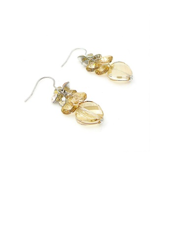 Glamorousky gold Graceful Earrings with Golden Austrian Element Crystals 78133ACF8117CAGS_1