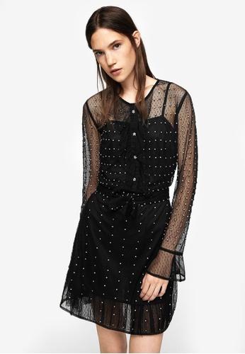 Mango black Crystals Tulle Dress MA193AA0RGTTMY_1